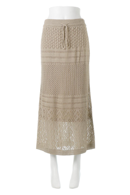 LacyKnitLongSkirt模様編み・ニットスカート大人カジュアルに最適な海外ファッションのothers(その他インポートアイテム)のボトムやスカート。春夏にぴったりな模様編みのロングスカート。着る人を選ばない長さで、シックでもカジュアルでも楽しめます。/main-5