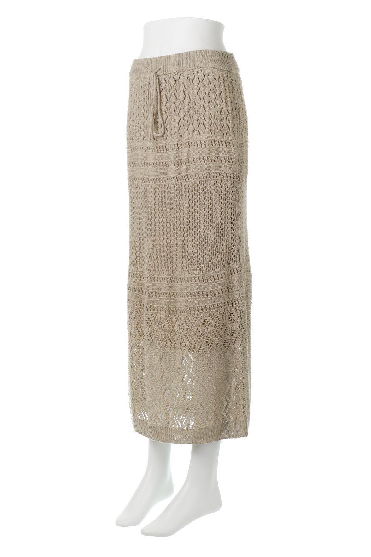 LacyKnitLongSkirt模様編み・ニットスカート大人カジュアルに最適な海外ファッションのothers(その他インポートアイテム)のボトムやスカート。春夏にぴったりな模様編みのロングスカート。着る人を選ばない長さで、シックでもカジュアルでも楽しめます。/main-6