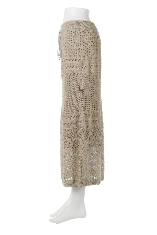 LacyKnitLongSkirt模様編み・ニットスカート大人カジュアルに最適な海外ファッションのothers(その他インポートアイテム)のボトムやスカート。春夏にぴったりな模様編みのロングスカート。着る人を選ばない長さで、シックでもカジュアルでも楽しめます。/main-7