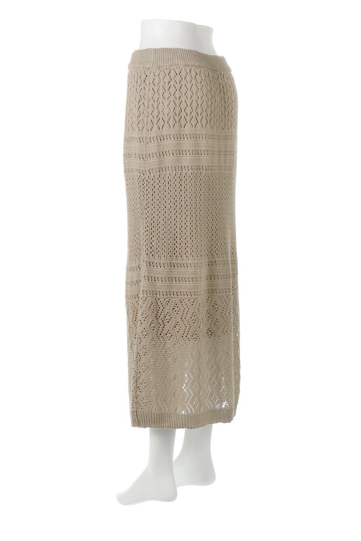 LacyKnitLongSkirt模様編み・ニットスカート大人カジュアルに最適な海外ファッションのothers(その他インポートアイテム)のボトムやスカート。春夏にぴったりな模様編みのロングスカート。着る人を選ばない長さで、シックでもカジュアルでも楽しめます。/main-8