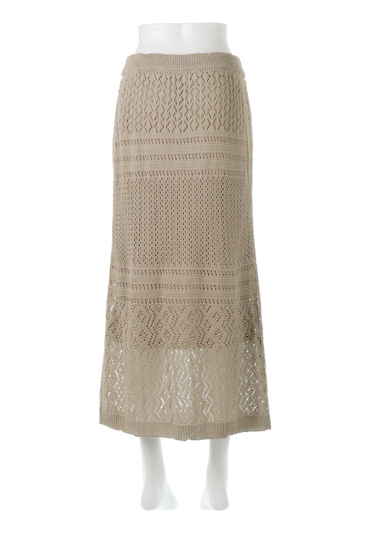 LacyKnitLongSkirt模様編み・ニットスカート大人カジュアルに最適な海外ファッションのothers(その他インポートアイテム)のボトムやスカート。春夏にぴったりな模様編みのロングスカート。着る人を選ばない長さで、シックでもカジュアルでも楽しめます。/main-9