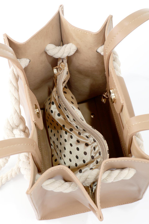 meliebiancoのMonica(Tan)ロープモチーフ・トートバッグ/海外ファッション好きにオススメのインポートバッグとかばん、MelieBianco(メリービアンコ)のバッグやトートバッグ。マリンテイストのロープが可愛い巾着タイプのトートバッグ。可愛らしいデザインの中は仕切りを兼ねたポケットが使いやすい便利な構造。/main-11