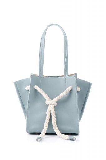 海外ファッションや大人カジュアルのためのインポートバッグ、かばんmelie bianco(メリービアンコ)のMonica (Blue) ロープモチーフ・トートバッグ