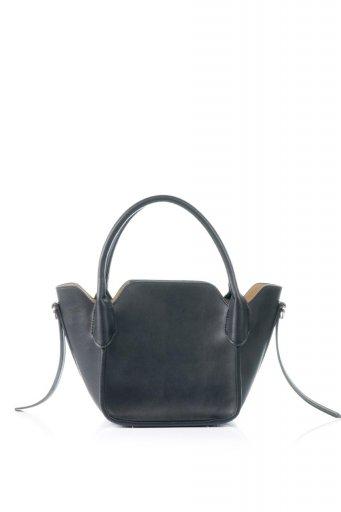 海外ファッションや大人カジュアルのためのインポートバッグ、かばんmelie bianco(メリービアンコ)のCarter (Black) ストラップ付・ミニハンドバッグ
