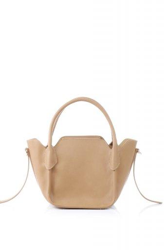 海外ファッションや大人カジュアルのためのインポートバッグ、かばんmelie bianco(メリービアンコ)のCarter (Tan) ストラップ付・ミニハンドバッグ