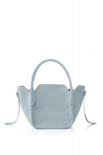 海外ファッションや大人カジュアルのためのインポートバッグ、かばんmelie bianco(メリービアンコ)のCarter (Blue) ストラップ付・ミニハンドバッグ