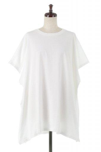 Side Slit Oversized Pull-Over サイドスリット・オーバーサイズTシャツ / 大人カジュアルに最適な海外ファッションが得意な福島市のセレクトショップbloom