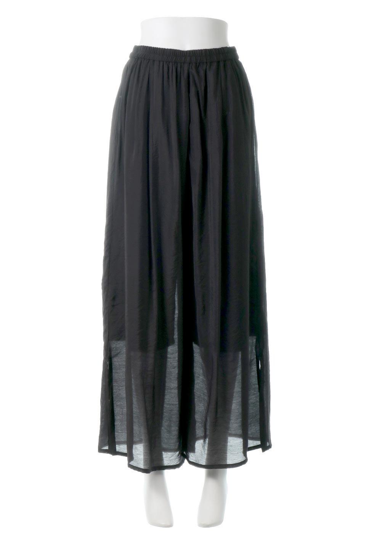 WideLegSlitSheerPantsサイドスリット・シアーパンツ大人カジュアルに最適な海外ファッションのothers(その他インポートアイテム)のボトムやパンツ。透け感のある人気のシアー素材を使用したワイドパンツ。涼しげな素材でスカートのような軽い着心地です。/main-10