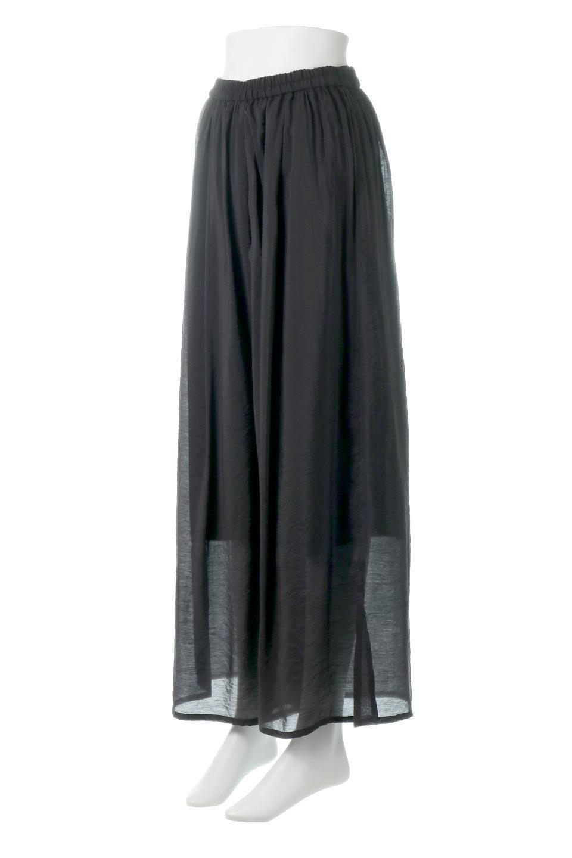 WideLegSlitSheerPantsサイドスリット・シアーパンツ大人カジュアルに最適な海外ファッションのothers(その他インポートアイテム)のボトムやパンツ。透け感のある人気のシアー素材を使用したワイドパンツ。涼しげな素材でスカートのような軽い着心地です。/main-11