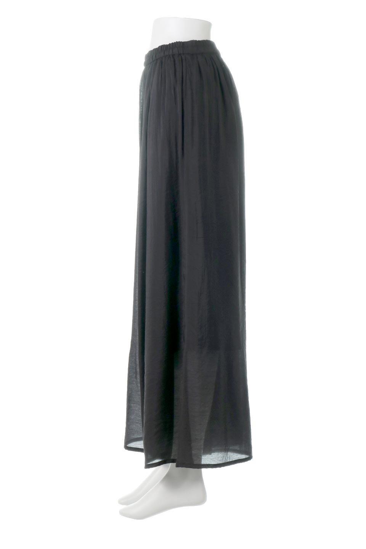 WideLegSlitSheerPantsサイドスリット・シアーパンツ大人カジュアルに最適な海外ファッションのothers(その他インポートアイテム)のボトムやパンツ。透け感のある人気のシアー素材を使用したワイドパンツ。涼しげな素材でスカートのような軽い着心地です。/main-12