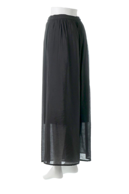 WideLegSlitSheerPantsサイドスリット・シアーパンツ大人カジュアルに最適な海外ファッションのothers(その他インポートアイテム)のボトムやパンツ。透け感のある人気のシアー素材を使用したワイドパンツ。涼しげな素材でスカートのような軽い着心地です。/main-13