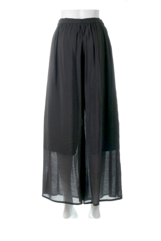 WideLegSlitSheerPantsサイドスリット・シアーパンツ大人カジュアルに最適な海外ファッションのothers(その他インポートアイテム)のボトムやパンツ。透け感のある人気のシアー素材を使用したワイドパンツ。涼しげな素材でスカートのような軽い着心地です。/main-14