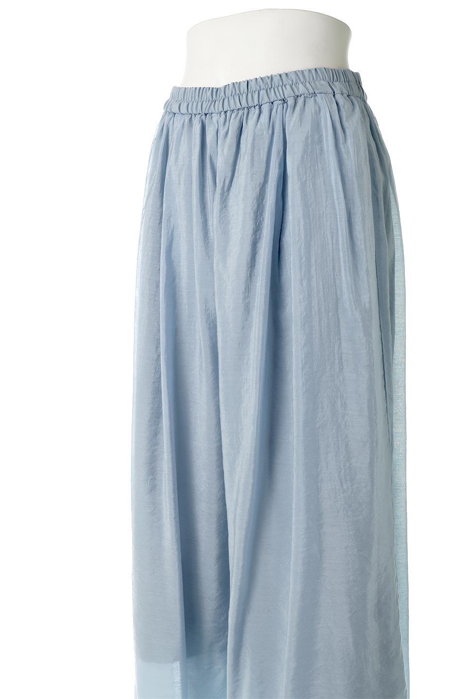 WideLegSlitSheerPantsサイドスリット・シアーパンツ大人カジュアルに最適な海外ファッションのothers(その他インポートアイテム)のボトムやパンツ。透け感のある人気のシアー素材を使用したワイドパンツ。涼しげな素材でスカートのような軽い着心地です。/main-16