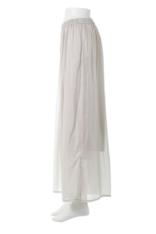 WideLegSlitSheerPantsサイドスリット・シアーパンツ大人カジュアルに最適な海外ファッションのothers(その他インポートアイテム)のボトムやパンツ。透け感のある人気のシアー素材を使用したワイドパンツ。涼しげな素材でスカートのような軽い着心地です。/main-2