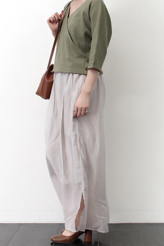 WideLegSlitSheerPantsサイドスリット・シアーパンツ大人カジュアルに最適な海外ファッションのothers(その他インポートアイテム)のボトムやパンツ。透け感のある人気のシアー素材を使用したワイドパンツ。涼しげな素材でスカートのような軽い着心地です。/main-24
