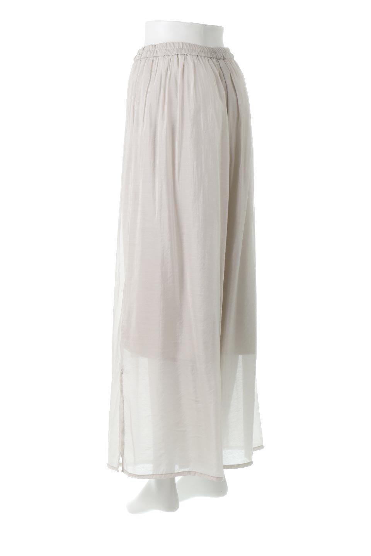 WideLegSlitSheerPantsサイドスリット・シアーパンツ大人カジュアルに最適な海外ファッションのothers(その他インポートアイテム)のボトムやパンツ。透け感のある人気のシアー素材を使用したワイドパンツ。涼しげな素材でスカートのような軽い着心地です。/main-3
