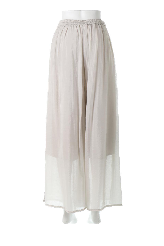 WideLegSlitSheerPantsサイドスリット・シアーパンツ大人カジュアルに最適な海外ファッションのothers(その他インポートアイテム)のボトムやパンツ。透け感のある人気のシアー素材を使用したワイドパンツ。涼しげな素材でスカートのような軽い着心地です。/main-4