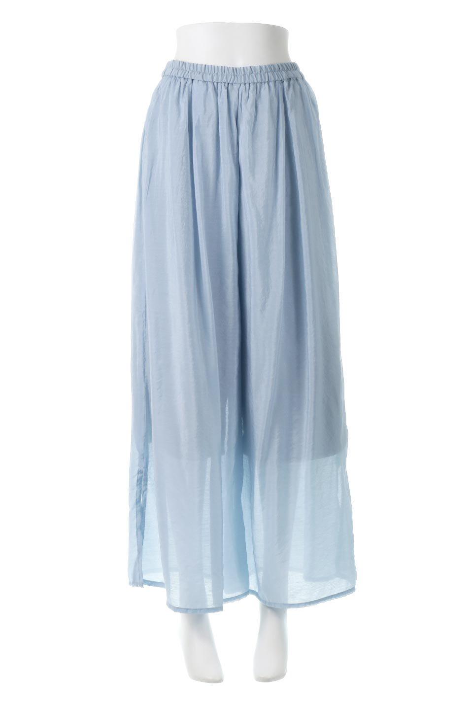 WideLegSlitSheerPantsサイドスリット・シアーパンツ大人カジュアルに最適な海外ファッションのothers(その他インポートアイテム)のボトムやパンツ。透け感のある人気のシアー素材を使用したワイドパンツ。涼しげな素材でスカートのような軽い着心地です。/main-5