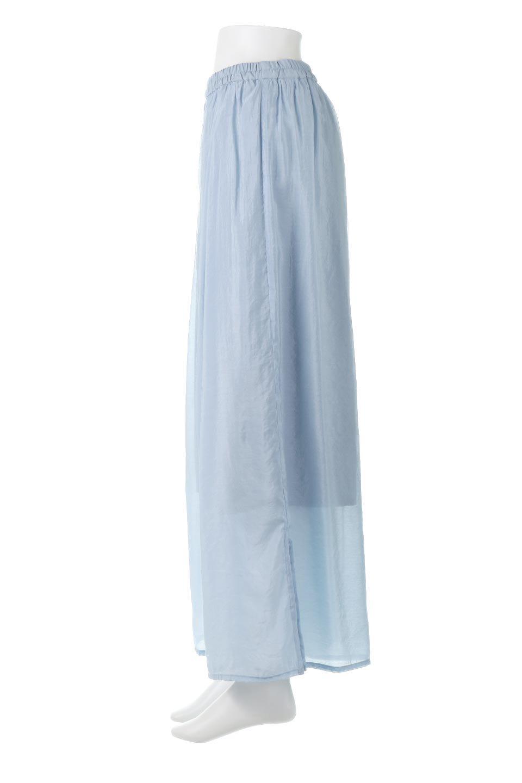 WideLegSlitSheerPantsサイドスリット・シアーパンツ大人カジュアルに最適な海外ファッションのothers(その他インポートアイテム)のボトムやパンツ。透け感のある人気のシアー素材を使用したワイドパンツ。涼しげな素材でスカートのような軽い着心地です。/main-7