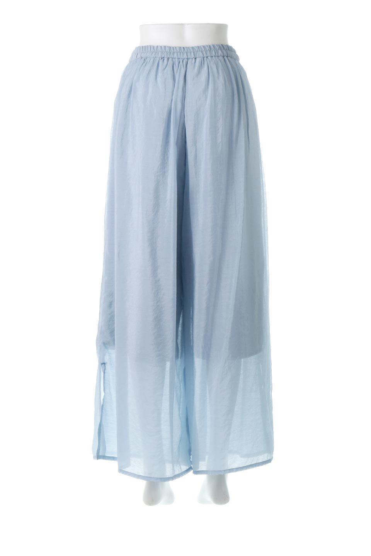 WideLegSlitSheerPantsサイドスリット・シアーパンツ大人カジュアルに最適な海外ファッションのothers(その他インポートアイテム)のボトムやパンツ。透け感のある人気のシアー素材を使用したワイドパンツ。涼しげな素材でスカートのような軽い着心地です。/main-9
