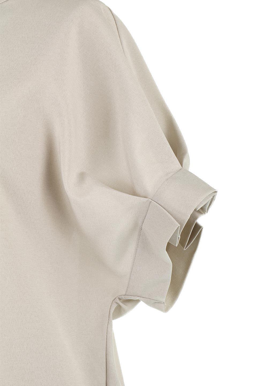 TackSleeveCollarlessBlouseタックスリーブ・ノーカラーブラウス大人カジュアルに最適な海外ファッションのothers(その他インポートアイテム)のトップスやシャツ・ブラウス。杢調のリネンライクな素材を使用したスキッパーブラウス。シンプルですが袖や後身頃のタックデザインで上品な雰囲気を演出します。/main-15