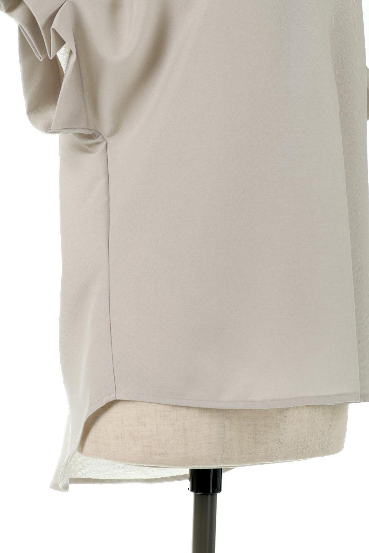 TackSleeveCollarlessBlouseタックスリーブ・ノーカラーブラウス大人カジュアルに最適な海外ファッションのothers(その他インポートアイテム)のトップスやシャツ・ブラウス。杢調のリネンライクな素材を使用したスキッパーブラウス。シンプルですが袖や後身頃のタックデザインで上品な雰囲気を演出します。/main-16