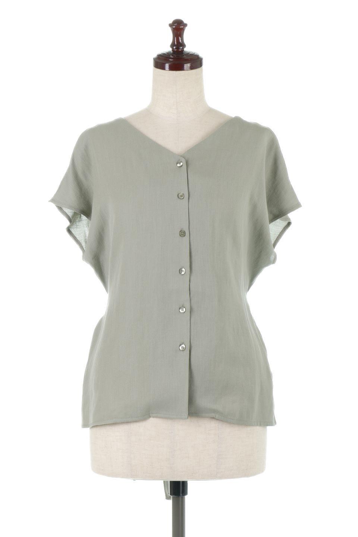 CacheCoeurBackBlouseバックカシュクール・タックブラウス大人カジュアルに最適な海外ファッションのothers(その他インポートアイテム)のトップスやシャツ・ブラウス。センターバックにカシュクールデザインを入れたチラ見せスタイルのブラウス。さらにベルトでバックシャンディテールに。