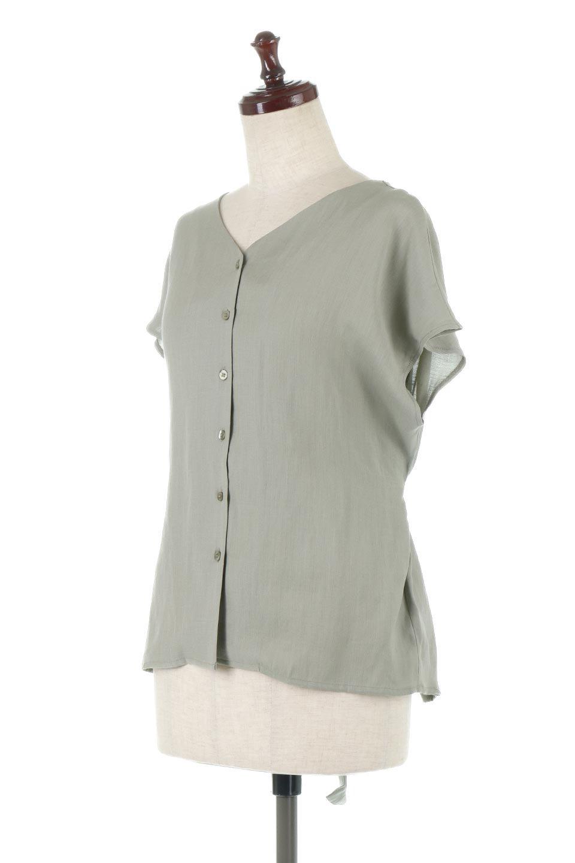 CacheCoeurBackBlouseバックカシュクール・タックブラウス大人カジュアルに最適な海外ファッションのothers(その他インポートアイテム)のトップスやシャツ・ブラウス。センターバックにカシュクールデザインを入れたチラ見せスタイルのブラウス。さらにベルトでバックシャンディテールに。/main-1