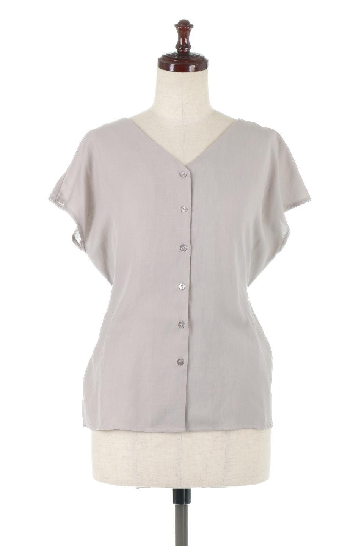 CacheCoeurBackBlouseバックカシュクール・タックブラウス大人カジュアルに最適な海外ファッションのothers(その他インポートアイテム)のトップスやシャツ・ブラウス。センターバックにカシュクールデザインを入れたチラ見せスタイルのブラウス。さらにベルトでバックシャンディテールに。/main-10
