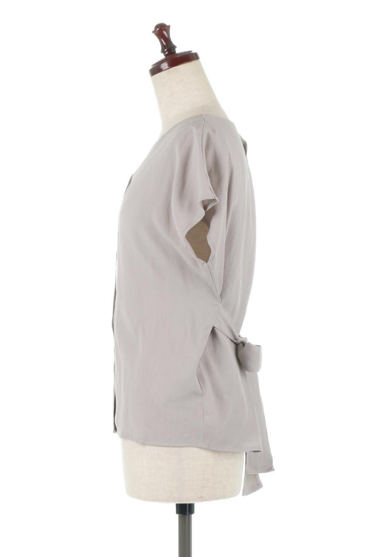 CacheCoeurBackBlouseバックカシュクール・タックブラウス大人カジュアルに最適な海外ファッションのothers(その他インポートアイテム)のトップスやシャツ・ブラウス。センターバックにカシュクールデザインを入れたチラ見せスタイルのブラウス。さらにベルトでバックシャンディテールに。/main-12