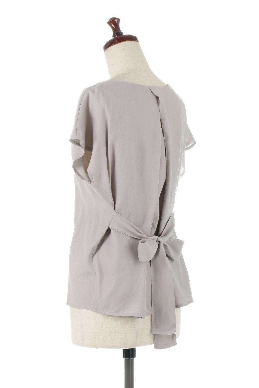 CacheCoeurBackBlouseバックカシュクール・タックブラウス大人カジュアルに最適な海外ファッションのothers(その他インポートアイテム)のトップスやシャツ・ブラウス。センターバックにカシュクールデザインを入れたチラ見せスタイルのブラウス。さらにベルトでバックシャンディテールに。/main-13