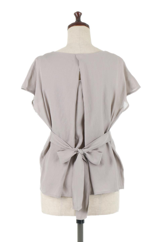 CacheCoeurBackBlouseバックカシュクール・タックブラウス大人カジュアルに最適な海外ファッションのothers(その他インポートアイテム)のトップスやシャツ・ブラウス。センターバックにカシュクールデザインを入れたチラ見せスタイルのブラウス。さらにベルトでバックシャンディテールに。/main-14