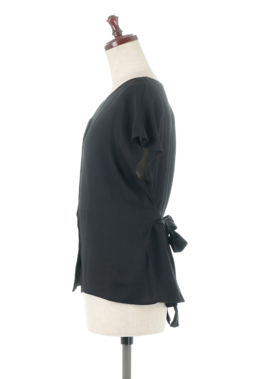 CacheCoeurBackBlouseバックカシュクール・タックブラウス大人カジュアルに最適な海外ファッションのothers(その他インポートアイテム)のトップスやシャツ・ブラウス。センターバックにカシュクールデザインを入れたチラ見せスタイルのブラウス。さらにベルトでバックシャンディテールに。/main-17