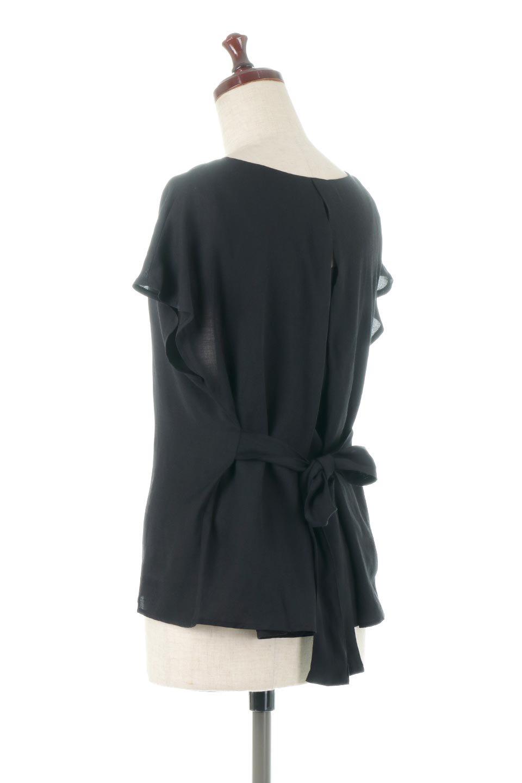 CacheCoeurBackBlouseバックカシュクール・タックブラウス大人カジュアルに最適な海外ファッションのothers(その他インポートアイテム)のトップスやシャツ・ブラウス。センターバックにカシュクールデザインを入れたチラ見せスタイルのブラウス。さらにベルトでバックシャンディテールに。/main-18