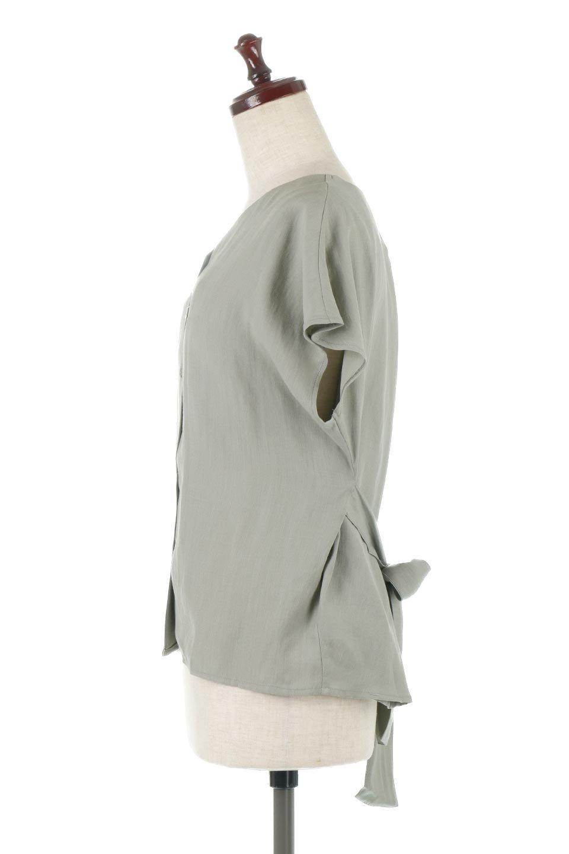 CacheCoeurBackBlouseバックカシュクール・タックブラウス大人カジュアルに最適な海外ファッションのothers(その他インポートアイテム)のトップスやシャツ・ブラウス。センターバックにカシュクールデザインを入れたチラ見せスタイルのブラウス。さらにベルトでバックシャンディテールに。/main-2