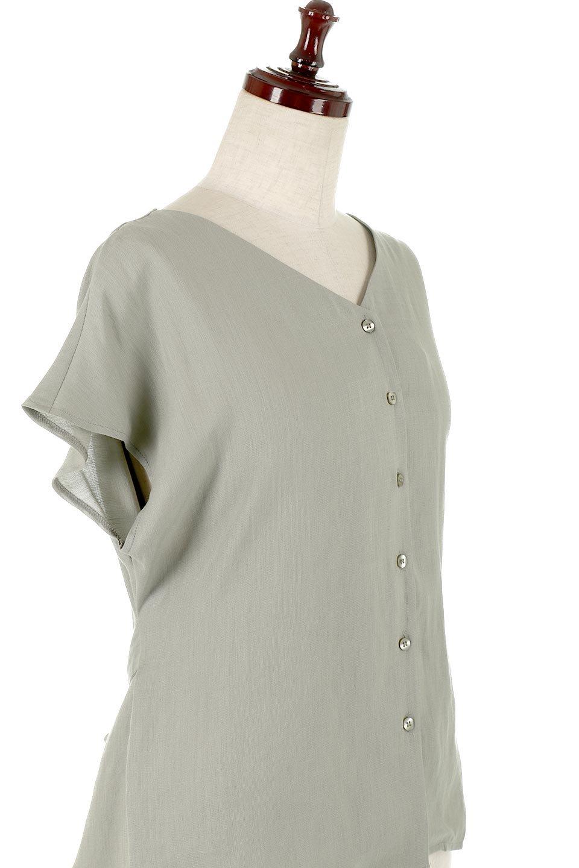 CacheCoeurBackBlouseバックカシュクール・タックブラウス大人カジュアルに最適な海外ファッションのothers(その他インポートアイテム)のトップスやシャツ・ブラウス。センターバックにカシュクールデザインを入れたチラ見せスタイルのブラウス。さらにベルトでバックシャンディテールに。/main-20