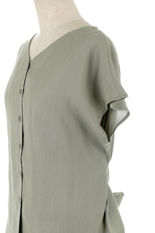 CacheCoeurBackBlouseバックカシュクール・タックブラウス大人カジュアルに最適な海外ファッションのothers(その他インポートアイテム)のトップスやシャツ・ブラウス。センターバックにカシュクールデザインを入れたチラ見せスタイルのブラウス。さらにベルトでバックシャンディテールに。/main-21