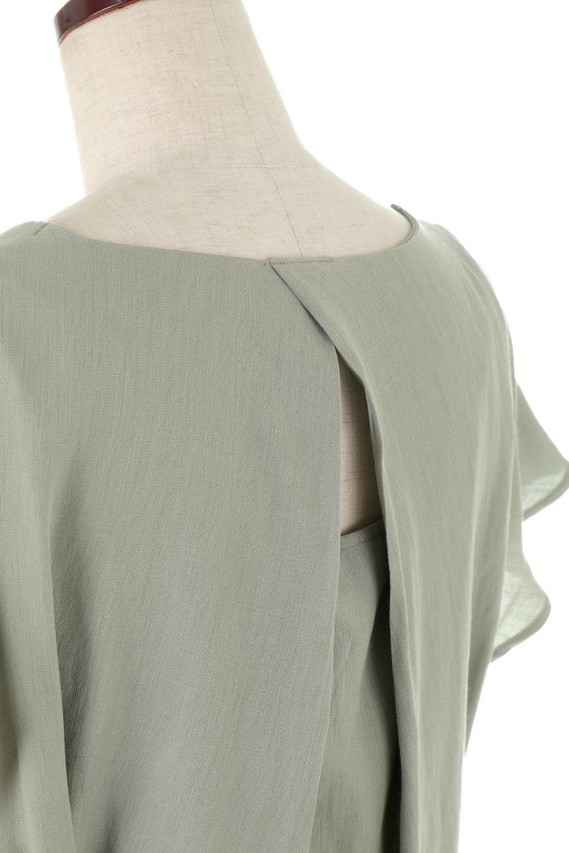 CacheCoeurBackBlouseバックカシュクール・タックブラウス大人カジュアルに最適な海外ファッションのothers(その他インポートアイテム)のトップスやシャツ・ブラウス。センターバックにカシュクールデザインを入れたチラ見せスタイルのブラウス。さらにベルトでバックシャンディテールに。/main-22