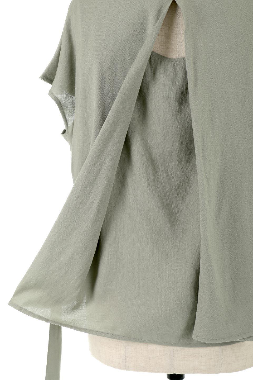 CacheCoeurBackBlouseバックカシュクール・タックブラウス大人カジュアルに最適な海外ファッションのothers(その他インポートアイテム)のトップスやシャツ・ブラウス。センターバックにカシュクールデザインを入れたチラ見せスタイルのブラウス。さらにベルトでバックシャンディテールに。/main-25