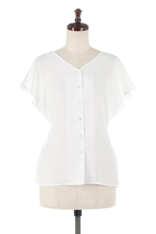 CacheCoeurBackBlouseバックカシュクール・タックブラウス大人カジュアルに最適な海外ファッションのothers(その他インポートアイテム)のトップスやシャツ・ブラウス。センターバックにカシュクールデザインを入れたチラ見せスタイルのブラウス。さらにベルトでバックシャンディテールに。/main-5
