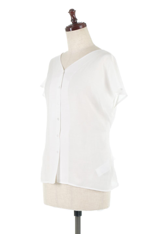 CacheCoeurBackBlouseバックカシュクール・タックブラウス大人カジュアルに最適な海外ファッションのothers(その他インポートアイテム)のトップスやシャツ・ブラウス。センターバックにカシュクールデザインを入れたチラ見せスタイルのブラウス。さらにベルトでバックシャンディテールに。/main-6
