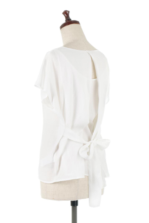 CacheCoeurBackBlouseバックカシュクール・タックブラウス大人カジュアルに最適な海外ファッションのothers(その他インポートアイテム)のトップスやシャツ・ブラウス。センターバックにカシュクールデザインを入れたチラ見せスタイルのブラウス。さらにベルトでバックシャンディテールに。/main-8