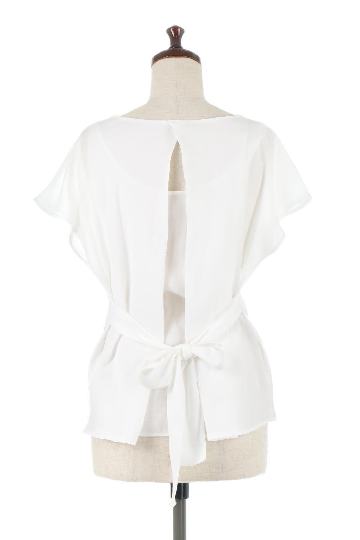 CacheCoeurBackBlouseバックカシュクール・タックブラウス大人カジュアルに最適な海外ファッションのothers(その他インポートアイテム)のトップスやシャツ・ブラウス。センターバックにカシュクールデザインを入れたチラ見せスタイルのブラウス。さらにベルトでバックシャンディテールに。/main-9