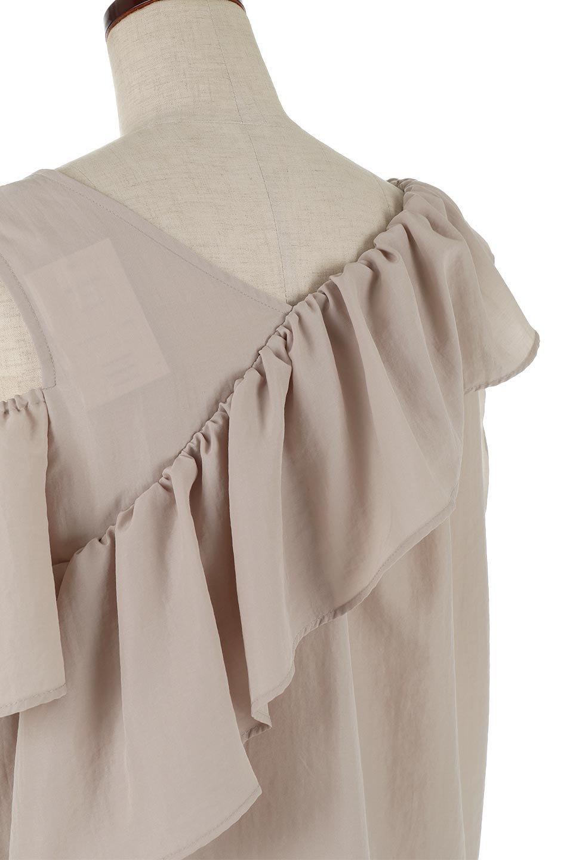 OutCutFrillLayeredBlouseアウトカット・2Wayフリルブラウス大人カジュアルに最適な海外ファッションのothers(その他インポートアイテム)のトップスやシャツ・ブラウス。左肩をチラ見せスタイルと、右肩をグイッとおろしてワンショルダースタイルの2WAYアシンメトリーレイヤードブラウス。シルクタッチな素材でこれからの季節に◎透け感 : ★★★☆☆  (?)★☆☆☆☆>さほど気になりません★★☆☆☆>光の具合で少し透けます★★★☆☆>気になる方はインナーを★★★★☆>インナー着用をおすすめ★★★★★>インナーが必要です ※白などは若干透け感がアップします素材ポリエステル100%サイズゆき丈肩幅身幅袖丈着丈one-32.557.51657※ サイズの測り方は