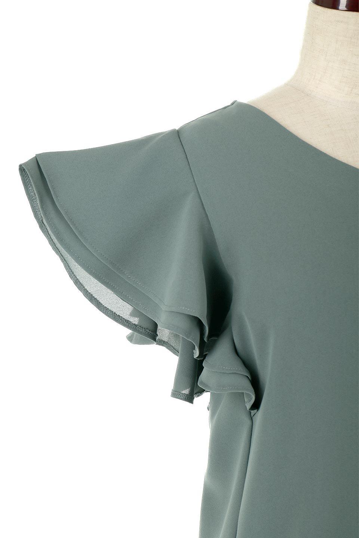 DoubleFrillSleeveButtonBlouseダブルフリルスリーブ・ボタンブラウス大人カジュアルに最適な海外ファッションのothers(その他インポートアイテム)のトップスやシャツ・ブラウス。動くたびに揺れる袖のドレープは、エレガントな雰囲気を演出してくれるブラウス。前開きなので、羽織りとしても着られます。/main-13