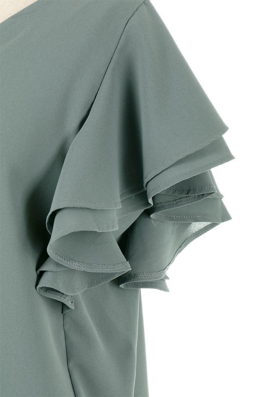 DoubleFrillSleeveButtonBlouseダブルフリルスリーブ・ボタンブラウス大人カジュアルに最適な海外ファッションのothers(その他インポートアイテム)のトップスやシャツ・ブラウス。動くたびに揺れる袖のドレープは、エレガントな雰囲気を演出してくれるブラウス。前開きなので、羽織りとしても着られます。/main-14