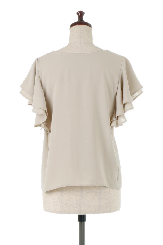 DoubleFrillSleeveButtonBlouseダブルフリルスリーブ・ボタンブラウス大人カジュアルに最適な海外ファッションのothers(その他インポートアイテム)のトップスやシャツ・ブラウス。動くたびに揺れる袖のドレープは、エレガントな雰囲気を演出してくれるブラウス。前開きなので、羽織りとしても着られます。/main-9