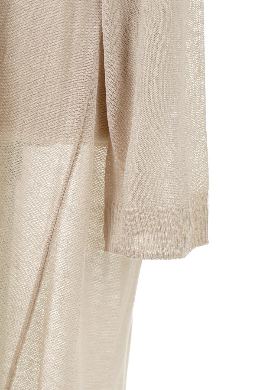 SheerKnittedLongCardiganシアーニット・ロングカーディガン大人カジュアルに最適な海外ファッションのothers(その他インポートアイテム)のアウターやカーディガン。透け感のあるニットを使用した春夏用ロングカーディガン。サラサラの肌触りの素材は麻のような涼しさを感じます。/main-20