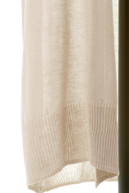 SheerKnittedLongCardiganシアーニット・ロングカーディガン大人カジュアルに最適な海外ファッションのothers(その他インポートアイテム)のアウターやカーディガン。透け感のあるニットを使用した春夏用ロングカーディガン。サラサラの肌触りの素材は麻のような涼しさを感じます。/main-21