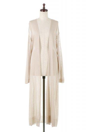海外ファッションや大人カジュアルに最適なインポートセレクトアイテムのSheer Knitted Long Cardigan シアーニット・ロングカーディガン